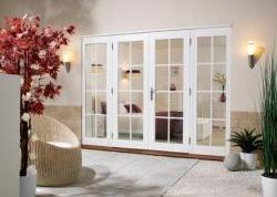 Softwood WHITE French Doors - NUVU 8 Lite: 44mm Fully Finished Doorsets Image