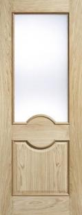 Oak Marseille RM2S Glazed - FROSTED Glass:  Image