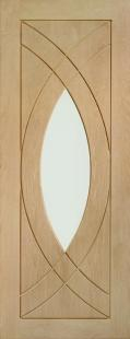 Treviso Oak - PREFINISHED Clear Glass:  Image