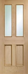 Malton Oak - Clear Bevelled Glass and Raised Mouldings:  Image