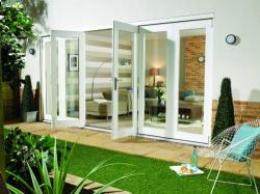 NUVU WHITE Folding Doors - Prefinished, Exterior Bifold Patio Doors Image
