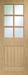 Suffolk Oak - PREFINISHED clear glass:  Image