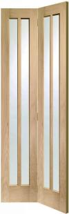 Worcester Oak Bi-Fold - Clear Glass:  Image