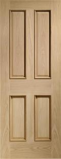 Victorian Oak 4 Panel - Raised Mouldings:  Image