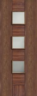 Messina Walnut - PREFINISHED Clear Glass:  Image