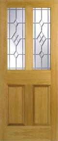 Malton Oak ABE Lead Glazed Door:  Image