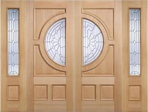 Empress Oak grand entrance with sidelights.:  Image